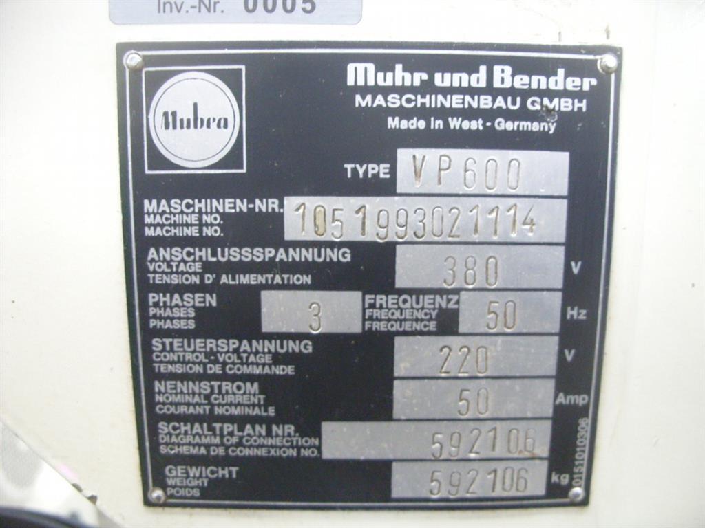 MUHR & BENDER (MUBEA) Mubea-Matic PI 200x100-1D