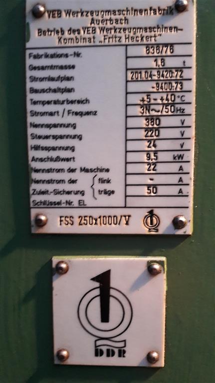 AUERBACH FSS 250 x 1000/V