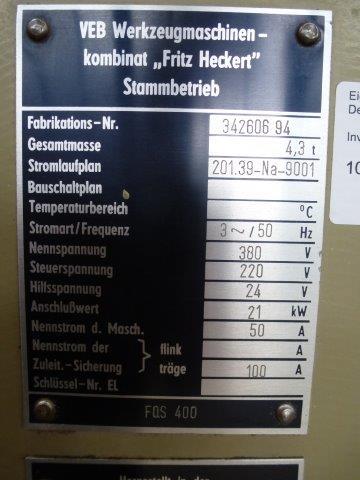 FRITZ HECKERT FQS 400