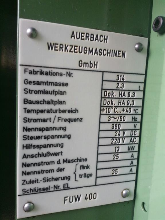 AUERBACH FUW 400