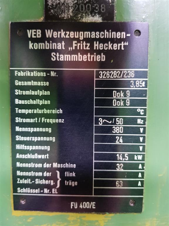 FRITZ HECKERT FU 400/E