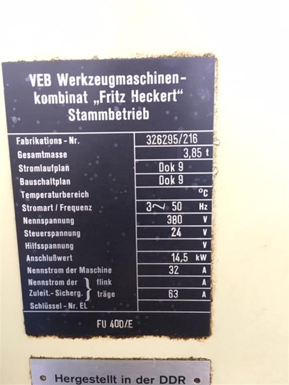 FRITZ HECKERT FU400/E
