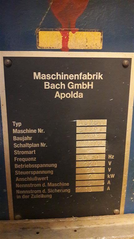 Bach GMBH Apolda AC 2500