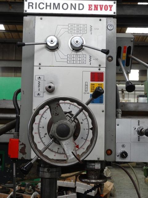 richmond envoy 4 radial arm drill rh usetec com Industrial Drill Press Manufacturers Drill Press Chuck