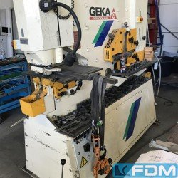 Stamping press - Hydraulic steelworker - GEKA HYDRACROP 80/AD